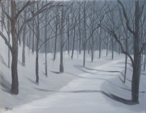 """Wooded Path by Night"" - Rod Schneider"